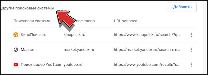 Как в браузере Chrome поменять поисковую систему