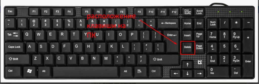 расположение клавиши insert на пк