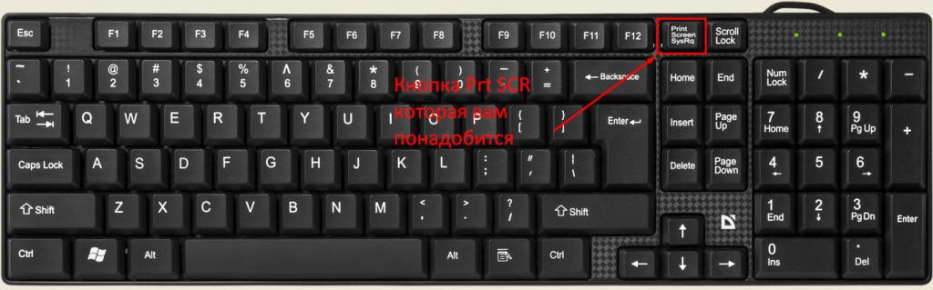 как сделать скриншот на компьютере какие клавиши - клавиша prt Scr