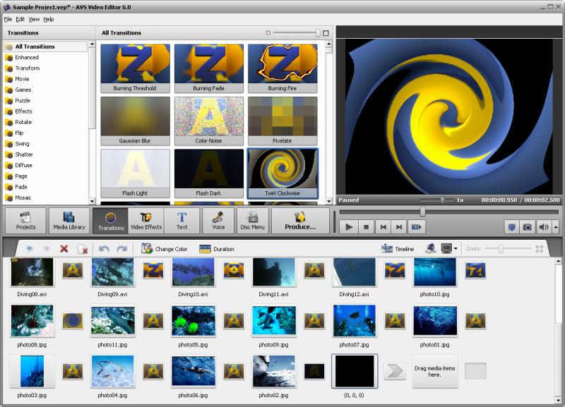 запись с экрана монитора со звуком бесплатно AVS Video Editor