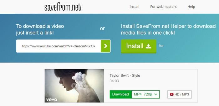 savefrom.net поможет Скачать музыку с вк расширение опера