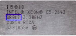 Intel Xeon e5 2643 ревизии